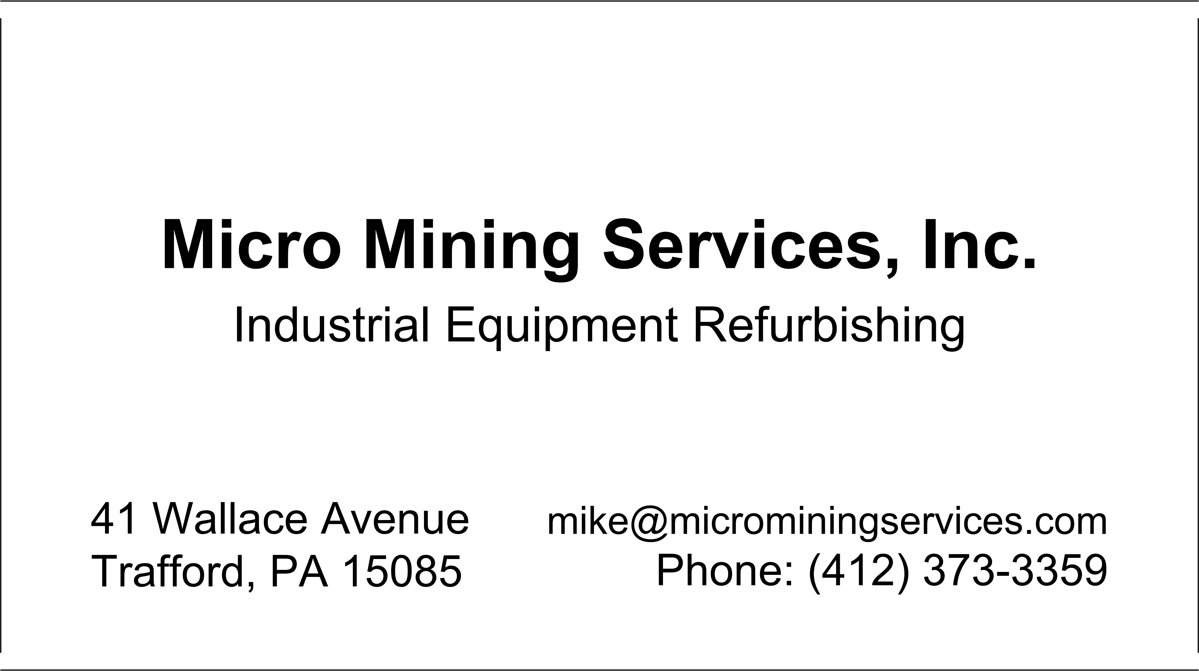 Mechanical and Electrical Equipment Repairs